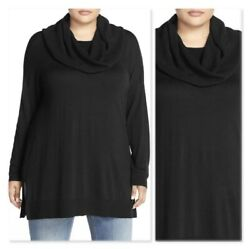NEW Caslon Cowl Neck Tunic Sweater Long SLEEVE Nordstrom PLUS SIZE 2X SIDE SLIT $19.99