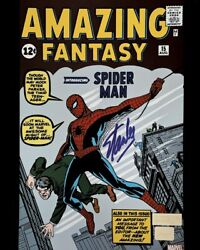 Stan Lee Autographed Amazing Fantasy 15 Spider-man Comic Cover 8x10 Photo