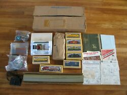1970s Life Like Deluxe Ho Train Set W/ Engine 6 Cars And Scenery 8743 Nos
