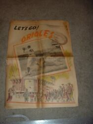 1955 2nd Year Baltimore Orioles News - Post Insert Paper Natty Boh Ad