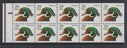 1991-95 Wood Duck Bep Booklet Pane Mnh Sc 2484a 10031049