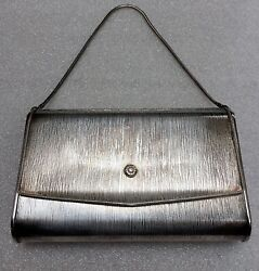 VINTAGE De PINNA PEWTER Clutch amp; Strap Purse N.Y. CLOTHIER Est. 1885 1950 $26.50