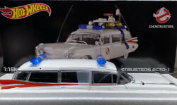 Hot Wheels 1/18 Scale New..ghost Busters Diecast Ecto 1 Omg Amazing ..very Rare
