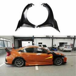 For Honda Civic Type-r 2016-2020 Fender Side Air Outlet Wide Body Trim Steel