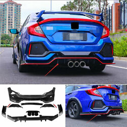 Fit For Honda Civic Type R 2016-20 Unpainted Rear Skid Plate Bumper Board Guard