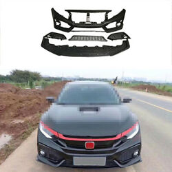 Fit For Honda Civic Si 2016-2020 Unpainted Front Skid Plate Bumper Board Guard
