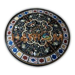 42 Marble Top Dining Table Multi Stone Mosaic Marquetry Inlay Home Decors B402