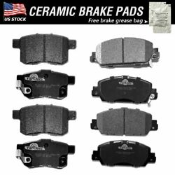 Front And Rear Ceramic Brake Pads Fit For 2017 2016 2015 2014 2013 Honda Accord