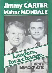 Jimmy Carter - Walter Mondale Leaders For A Change 1976 Election Poster