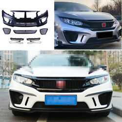 Fit For Honda Civic Ms 2016-2020 Unpainted Front Skid Plate Bumper Board Guard