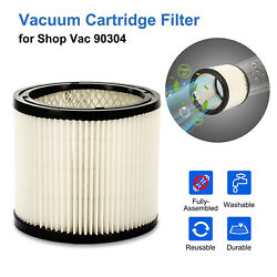 Vacuum Filter Replacement For Shop Vac 90304 9030400 Washable Vacuum Cleaners