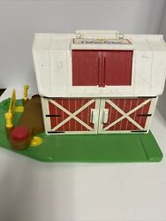 Vintage Fisher Price Family Play Farm Barn With Mooing Doors Toy Box Find