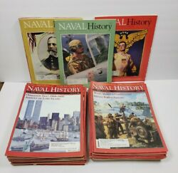 Naval History Magazine - Lot Of 35 - 1995-2002 United States Naval Institute