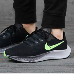 Nike Air Zoom Pegasus 37 Big Girl Womenand039s Running Trainer Shoes Black/lime