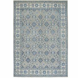 9and0398x13and0399 Gray Vintage Look Kazak All Over Design Hand Knotted Rug R55968
