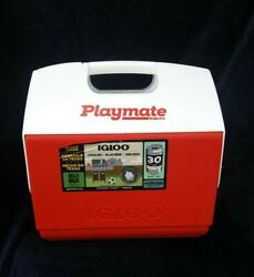 NEW IGLOO COOLER PLAYMATE ELITE RED 30 CAN CAPACITY HARD SIDE #STAYCOOL $14.00