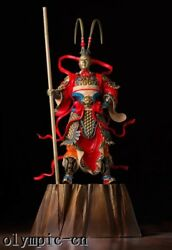 Pure Brass Hand Painting Carved Monkey King Sun Wukong Statue