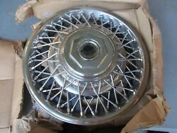 Nos Set 70and039s 80and039s General Motors Corporation 14 Wire Hubcaps Wheel Covers