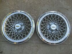 Nos 1977-1985 Chevy Impala 15 Deluxe Sport Hubcaps Wheel Covers Pair