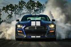 2020 Ford Shelby Gt500 Mustang Dragstrip Poster 24 X 36 Inch Looks Awesome