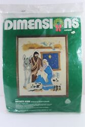 New Nativity Scene Crewel Kit 8001 - Dimensions - 1981 Sealed - Free Shipping