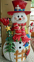 Home Interior-patches The Snowman Lighted Music Maker-2006 --new In Box