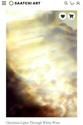 Gold Earth Tones Peaceful Large Abstract Painting Discounted Original Art