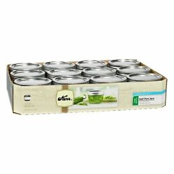 Canning Mason Jars / Lids / Rings Half Pint 8oz Wide Mouth 12 Count Pack