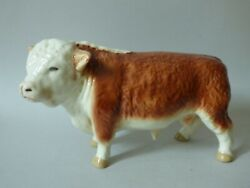 Large Coopercraft Countryside Farm Cattle Hereford Butchers Shop Bull Free Uk Pp