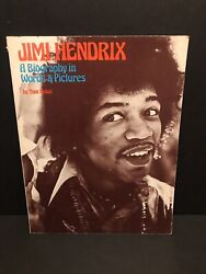 Vintage Jimi Hendrix Book A Biography In Words And Pictures By Tom Nolan 1977