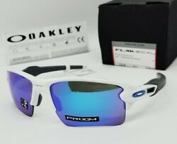 OAKLEY white sapphire quot;PRIZMquot; FLAK 2.0 XL OO9188 9459 sunglasses NEW IN BOX $114.99