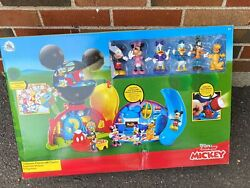 New Disney Junior Mickey Mouse Clubhouse Deluxe Playset Lights Sounds Figures