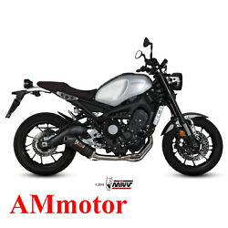 Full System Mivv Yamaha Xsr 900 2018 18 Exhaust Oval Carbon Cap Motorcycle