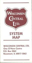 1988 Wisconsin Central Railway - Railroad System Map