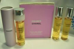 Womens New Chance Twist And Spray Edt Set 3 X 20 Ml And Atomizer Purse Travel