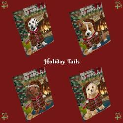 Christmas Stocking Hung Dog Cat Pet Photo Refrigerator Magnet 11.5x17.6 In