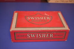 Vintage Swisher Sweets Cigar Box - Empty - Red 50 Count