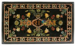 3and039x2and039 Amazing Marble Dining Table Top Precious Floral Inlay Interior Decors B576