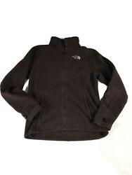 Northface Women#x27;s Brown Fleece Zip Up Jacket Ladies North Face Size M $24.99