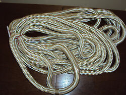 Gold/white 3/4 X 50 Double Braid Dock Lines Pair 2 Ropes Boating Ropes