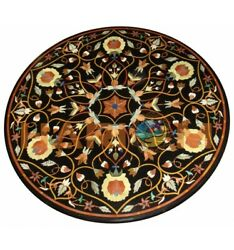 36 Precious Floral Marquetry Inlay Marble Top Dining Table Interior Decors B645