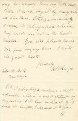 Rutherford B. Hayes - Autograph Letter Double Signed 04/06/1887