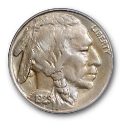 1929 S 5c Buffalo Nickel Pcgs Ms 64 Uncirculated Ogh Toned Undergraded