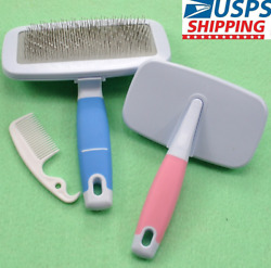 Pet Dog Cat Brush for Shedding Grooming Hair Slicker Brush for Small Dogs Puppy