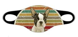 Boston Terrier dog lovers Soft face protective mask easily washed respire airy