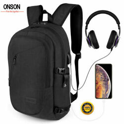 Anti Theft Waterproof Mens Backpack External USB Charge Port Laptop Travel Bag $23.70