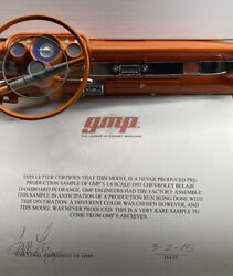 Gmp 1957 Chevy Belair Dashboard 1/6 Scale Pre Production Sample Rare As It Gets