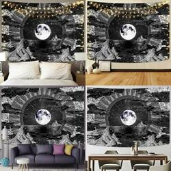 Sevenstars Moon and Star Tapestry Clouds Tapestries Black Tapestry Psychedelic M