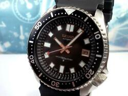 625/seiko Custom Second Diver 7002 6105 2nd Equipped With A Rotating Bezel Fr Jp