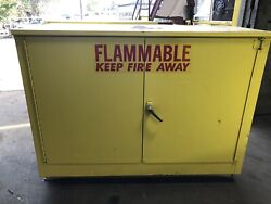 Lab Safety Yellow Flammable Storage Cabinet 36 Gallon 47 X 22 X 36 2457 Can Ship